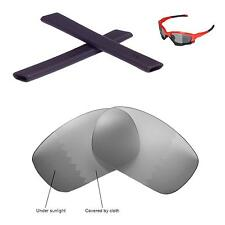 New Walleva Polarized Transition Lenses And Black Earsocks For Oakley Jawbone