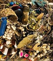 Jewelry Vintage Huge Lot Now Junk, Craft, Jewelry Wearable, Over One Full Pound