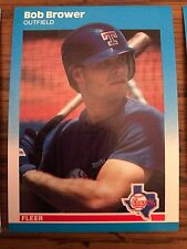 1987 Fleer Update Bob Browser Texas Rangers u-10