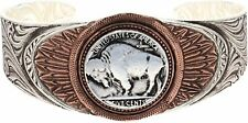 Montana Silversmiths Bracelet Womens Feather Silver Gold Bc1109rg
