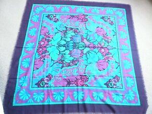 Liberty Varuna Wool Shawl Throw Wrap 51 x 52 inches Art Nouveau