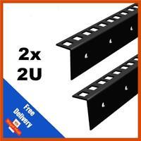2x 2U 19 INCH RACK STRIP -  FLIGHT CASES  | SOLD IN PAIRS