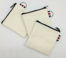 Craft Blank Canvas Pencil Case Stationery Pouch Coin bag DIY Purse Cosmetic Bags