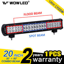 WOW - 20 Inch 126W CREE LED Spot Flood Combo Driving Work Roof Light Bar ATV UTE