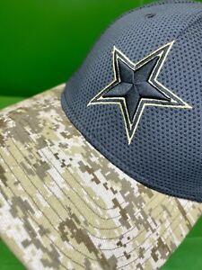 H525 NFL Dallas Cowboys New Era 39THIRTY Salute to Service Hat Cap Large/X-L