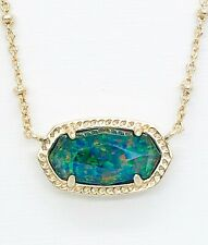 New KENDRA SCOTT Elisa Gold Satellite Midnight Kyocera Opal Illusion Necklace