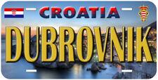 Dubrovnik Croatia Aluminum Car Tag Novelty License Plate