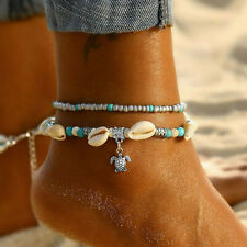 Shell Chain Anklet Beach Women Jewelry Summer Bohemian Turtle Beads Anklet Boho