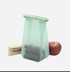 """HIP Lunch Pack Silicone Bag Aqua Green/Blue BPA Free 8"""" x 5"""" x 4"""" New in Package"""