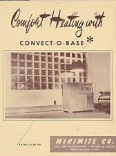 VINTAGE CATALOG #2916 - 1950s MINIMITE CONVECT O BASE HOME HEATING