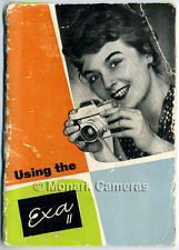 Using The Exa II Camera Instruction Book, More Original Ihagee Manuals Listed