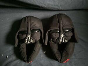 Star Wars Darth Vader Boys Slippers Black Slip on Size 2/3