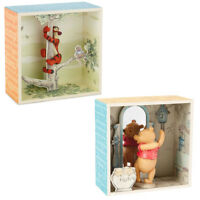 Hallmark 2pc Disney Winnie the Pooh Shadow Box Figurine Sets Pooh Bear & Tigger