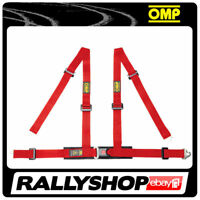 OMP ROAD 4M 4 POINTS RED SEATBELT Harness Belts Race Racing Rally DA507061
