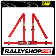 OMP ROAD 4M 4 POINTS RED SEATBELT Harness Belts Race Racing Rally DA507061