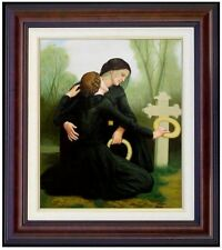 Framed Hand Painted Oil Painting, Repro Bouguereau The Day of the Dead 20x24in