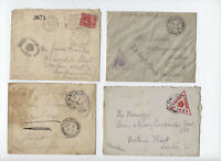 4 British FPO covers World War I inc to Canada [y5462]