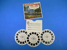 GAF Viewmaster Stereo Pictures Cypress Gardens Floral Paradise Orchid 3 Reels