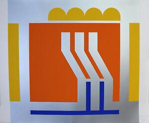 OTTO HERBERT - Abstrakte Komposition. Handsignierter und nummerierter Siebdruck.