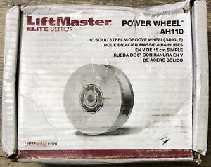 LIFTMASTER Elite Series Power Wheel AH110 6in Solid Steel V Groove Wheel