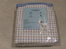 Home Classics Microfiber Sheet Set Queen Plaid Blue/White 73277