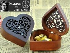 Heart Wood Gold Wind Up Music Box : IMAGINE