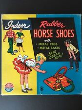 Vintage Indoor Rubber Horse Shoes - Auburn Rubber Company - No.700 - metal bases