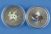 Two  - 2015 - 1 OZ Pure Silver - Antiqued - Coins  - Royal Canadian Mint -Unique