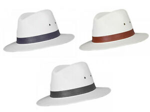 Quality Classic 100% Cotton Fedora Panama Sun Hat 4 Sizes