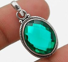 8CT Apatite 925 Solid Sterling Silver Pendant