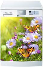 Sticker Lave vaisselle REPOSITIONNABLE Fleurs papillons 60x60cm Réf 230