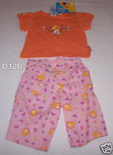 Care Bears Girls Orange Pink Printed 2 Piece Outfit Set Size 00 New
