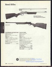 2006 ROSSI Matched Pair & Single Shot Rifle AD w/ original prices