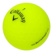 12 Callaway Superhot Matte Yellow Mint Used Golf Balls AAAAA