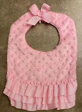 Baby Girls Pink Ruffle Bib: Mudpie