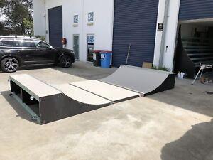 Half Pipe Skateboard Ramp Modular 2ft High X 2.4m Wide 4.8m Long