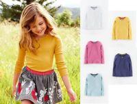 Mini Boden girls pretty cotton long sleeve t shirt top NEW 1-12, white blue BNIB
