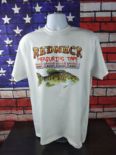 NWT Men's Sz XL Redneck Measuring Tape Fishing White Shirt Other Sizes Available