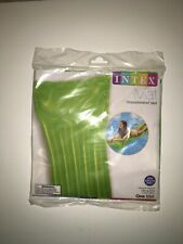 Inflatable Green Transparent Intex Float Lounger Mat NEW 72inx27in Pool, Beach