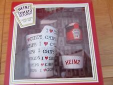 More details for heinz tomato ketchup i love chips gift set brand new  chip cup holder & saucepot