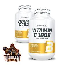 BioTech - Vitamin C L-Ascorbic Acid 1000mg 100 Caps Health Immune Support UK