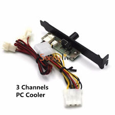 3 Channels PC Cooler Cooling Fan Speed Controller for CPU Case HDD DDR VGA New