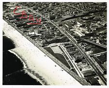 WWII ERA USAAF AERIAL 8X10 PHOTOGRAPH OVER THE NEW YORK CONEY ISLAND AREA LOOK