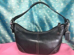 Coach 9541 Authentic Carry bag Purse Handbag Shoulder bag Black Leather
