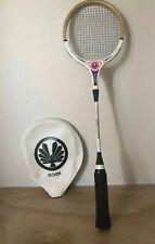 Vintage Oliver White Clipper Wooden Badminton Racquet