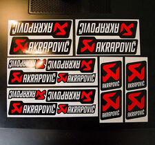 16pc AKRAPOVIC logo Stickers Decals Race Bike ATV MX MotoGP Vinyl Graphic Badge