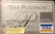 Platinum Visa credit card expire 2007