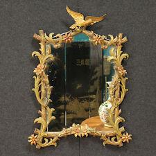 Specchiera italiana in legno dorato dipinto stile Liberty stile antico 900 XX