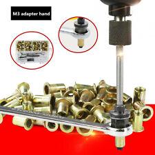 109x M3 Nuts Accessories Electric Rivet Gun Tool Hand Riveter Rivnut Nut Hex Kit