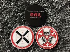 """3 very rare 30 Seconds to Mars Official """"A Beautiful Lie"""" Stickers / Jared Leto"""
